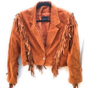 Carole Little Vintage Suede Fringed Jacket